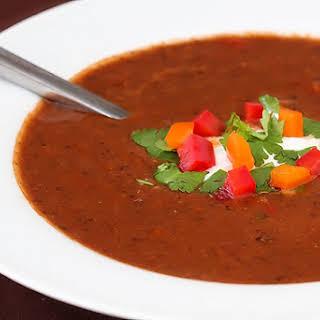 Spicy Black Bean Soup.