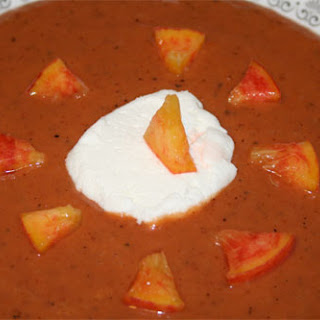 Chilled Grilled Peach Soup.