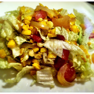 Roasted Corn and Bacon Napa Cabbage Slaw.