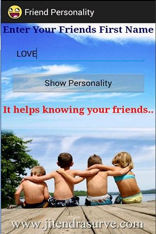 Friends Personality