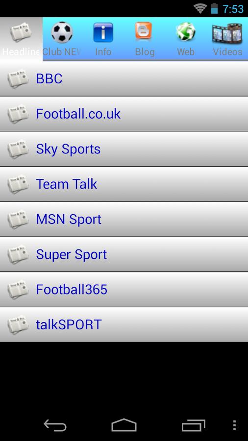 UK Premier League 2015 - screenshot