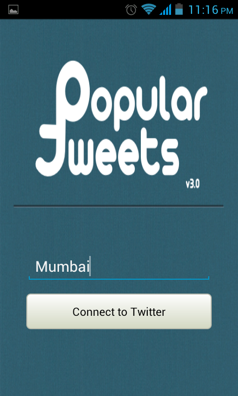 Popular Tweets - screenshot