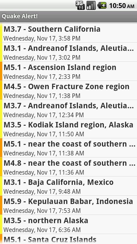Earthquake Alert!- screenshot