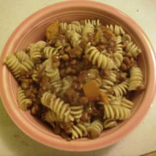 Pasta with Lentil Soup Sauce