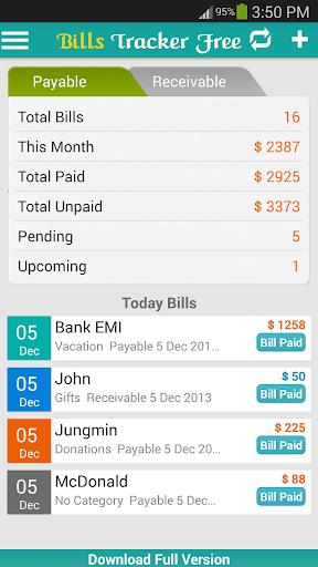 Bills Tracker Free - Reminder