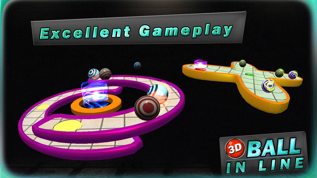 3D BALL IN LINE- screenshot