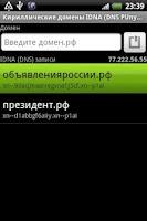 Screenshot of IDNA (DNS Punycode) notepad