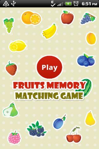Fruits Memory Matching Game