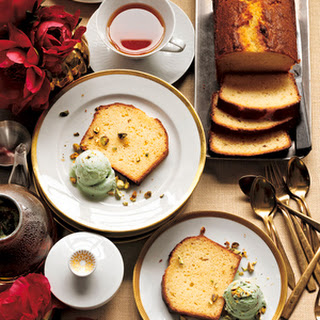 Lemon Buttermilk Cake With Pistachio Ice Cream