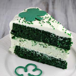 Green Velvet Cheesecake Cake.