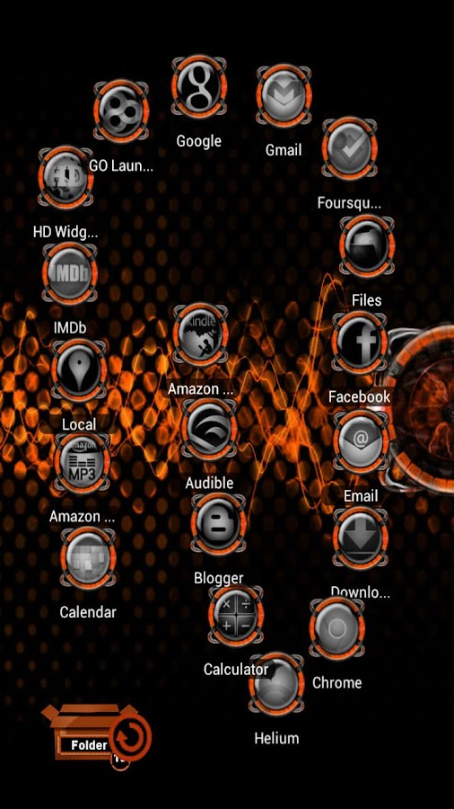 Bionic Launcher Theme Orange - screenshot