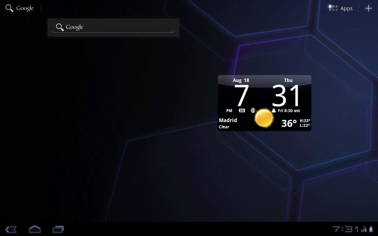 Smoked Glass Clock Widget - screenshot