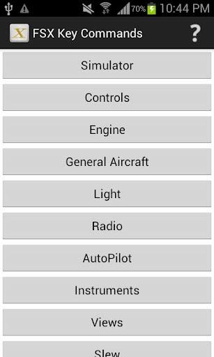 FSX Key Commands Pro