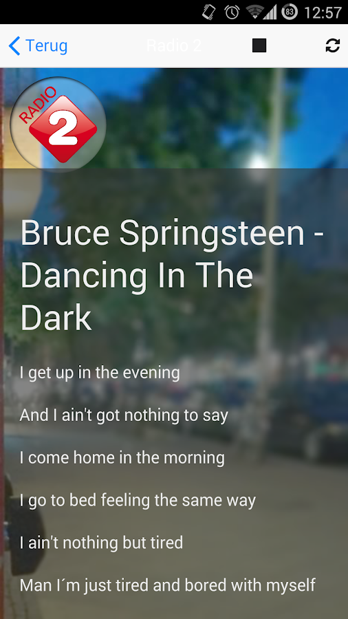 Lyrics Radio Songteksten App- screenshot