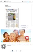 Screenshot of SÜDKURIER ePaper