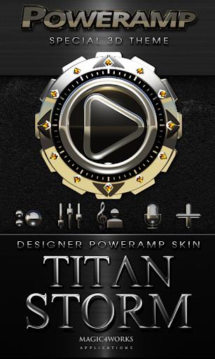 Poweramp skin Titan Storm