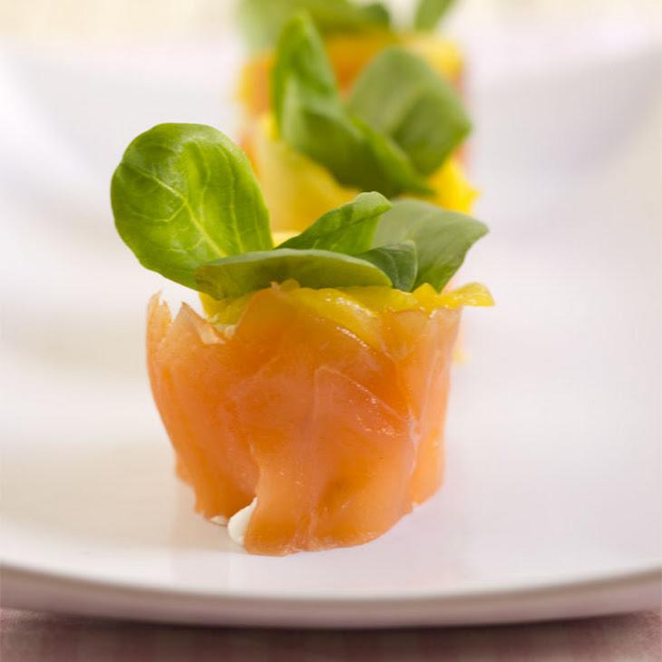 Smoked Salmon and Mango Rolls Recipe
