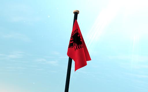 個人化必備APP下載|阿爾巴尼亞旗3D免費動態桌布 好玩app不花錢|綠色工廠好玩App