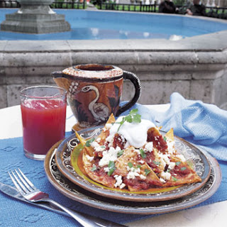 Chilaquiles in Chipotle Sauce