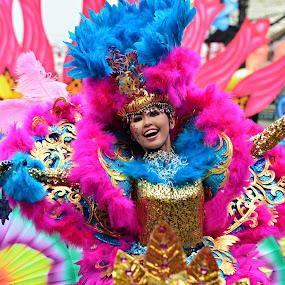 Pintaflores dancer by Banggi Cua - People Musicians & Entertainers