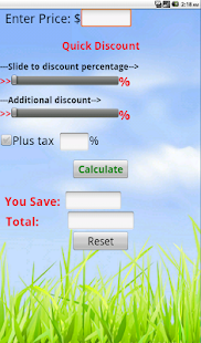 Quick Discount Calculator - screenshot thumbnail