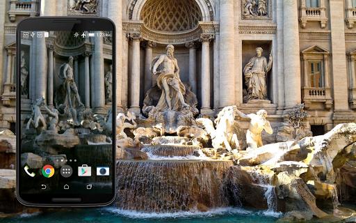Trevi Fountain Live Wallpaper