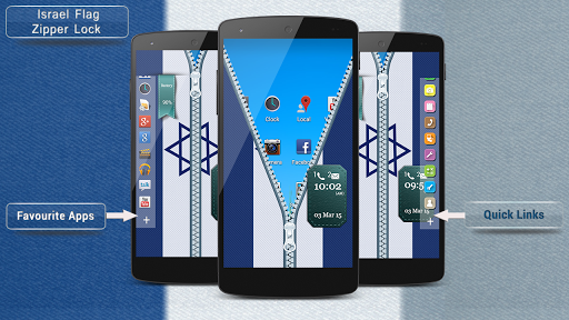 Israel Flag Zipper Lock