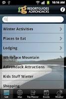 Screenshot of Adirondacks Guide