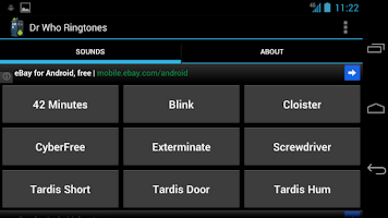 Screenshot of Doctor Who Sounds and Ringers