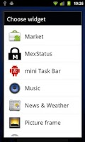 Screenshot of Mex Dooris Widget