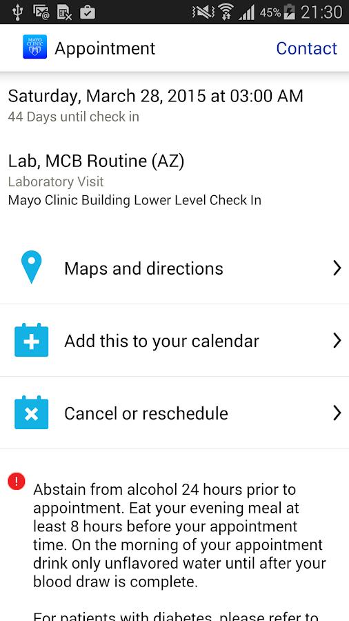 Mayo Clinic - screenshot