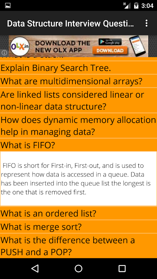 data structure questions and answers pdf