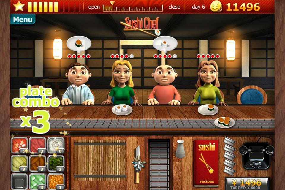 Youda Sushi Chef Premium - screenshot