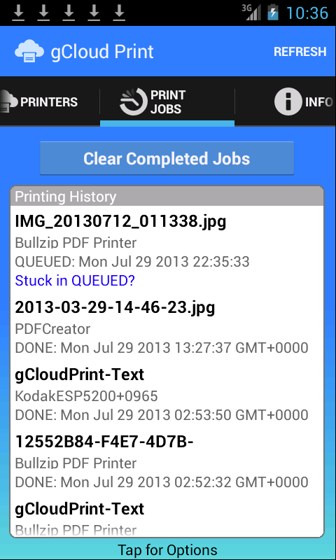 gCloud Print- screenshot