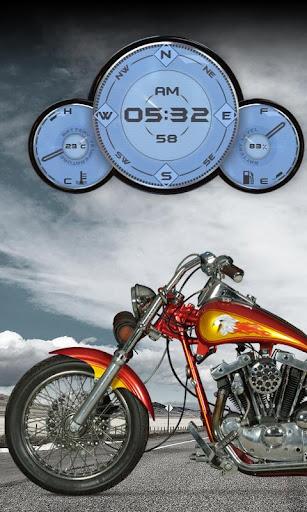Custom Motorcycle Compass LWP