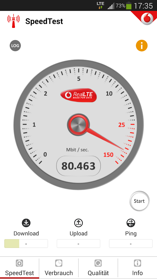 Vodafone SpeedTest - screenshot
