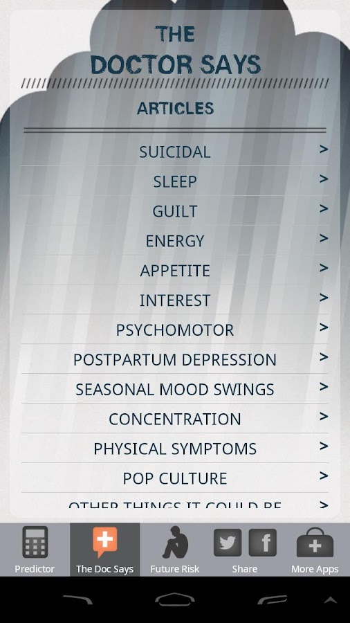 The Depression Predictor- screenshot