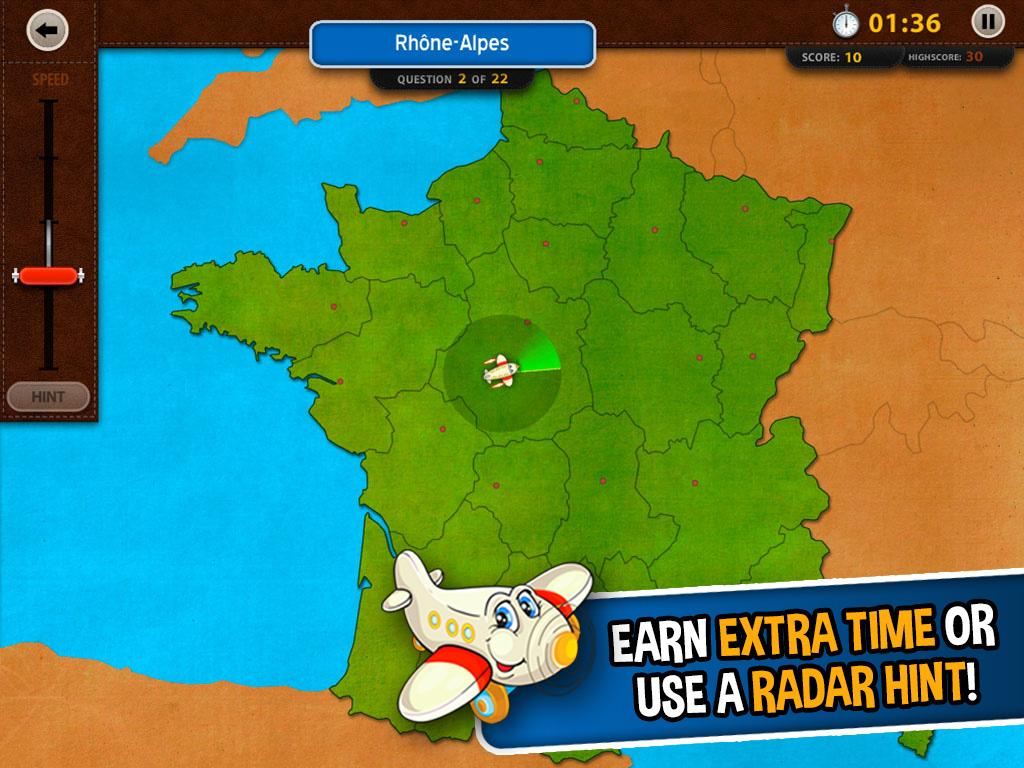 GeoFlight France: Geography- screenshot