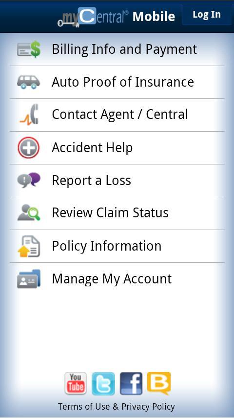 myCentral Mobile- screenshot