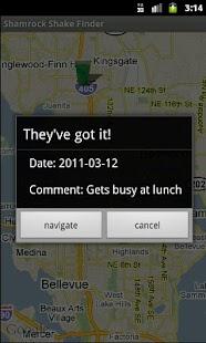 Shamrock Shake Finder- screenshot thumbnail