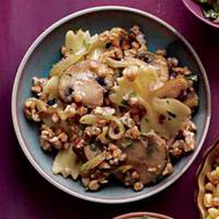 Buckwheat with Pasta, Onions and Mushrooms