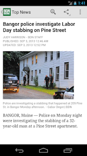 Bangor Daily News - screenshot thumbnail