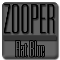Flat Blue - Zooper Widget Pro icon
