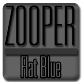 Flat Blue - Zooper Widget Pro