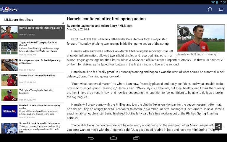 android MLB.com At Bat Screenshot 2