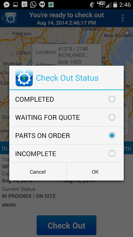 GPS Check-In for Contractors- screenshot