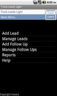 Sales Leads Tracking Lite Free- screenshot thumbnail