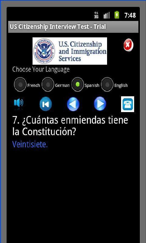 US Citizenship Test - Full Ver - screenshot
