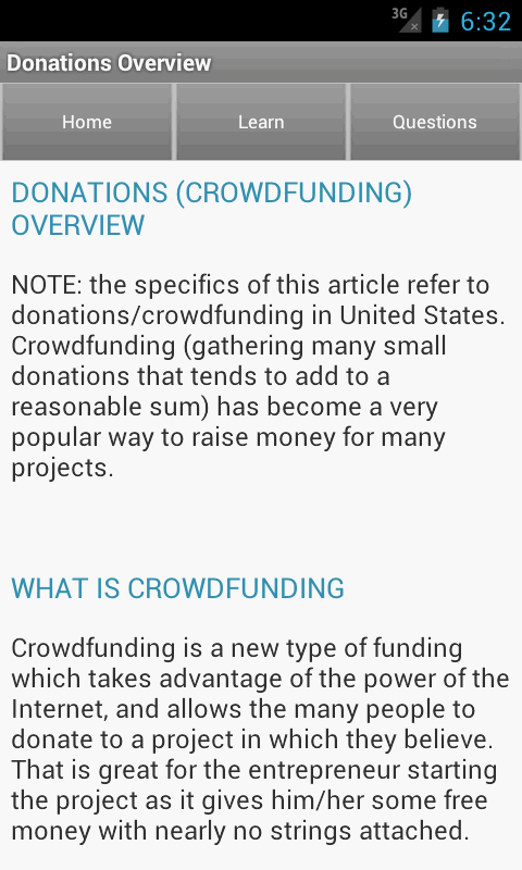 Funding & Fundraising Ideas - screenshot