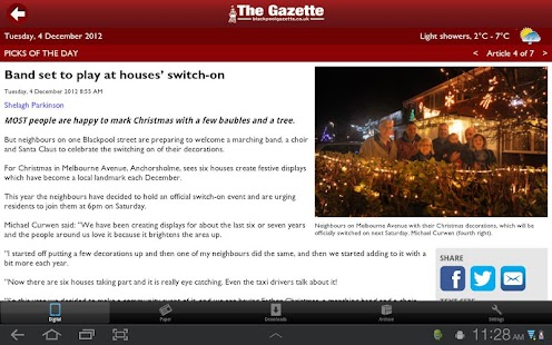 The Gazette, Blackpool - screenshot thumbnail